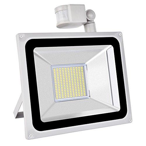 r-Licht, PIR-Flutlicht, LED im Freien Super Helles, 10000LM 6000-6500K Wasserdichtes IP65, Sicherheits-Licht, Wechselstrom 200-240V 【Energiesparend】 (Kaltes Weiß, 100W) ()