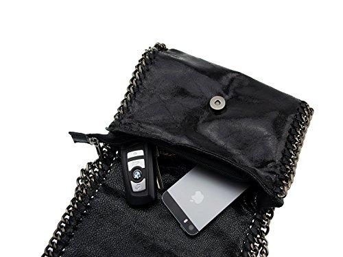 bag2basics Jolene, Borsa a spalla donna Nero (nero)