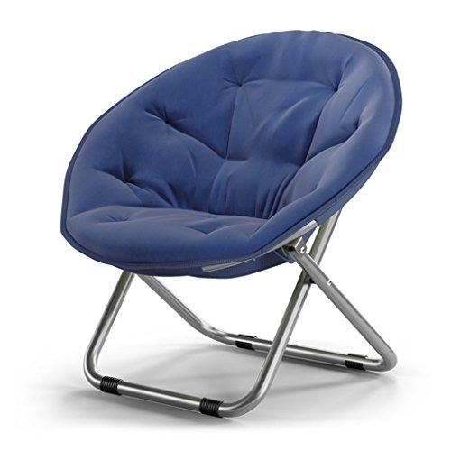 Accueil/Tabouret pour meubles de loisirs intérie Grande chaise de lune pliable pour adultes Chaise de soleil Toile Canapé paresseux Rond Défléchissante portable (couleur multiple) durable par BZEI-C