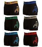 Piotrstrade 6 er Pack Herren Boxershorts Retroshorts mit Muster Männer Unterhosen Slip Unterwäsche in frischen Farben Uomo Boxershort