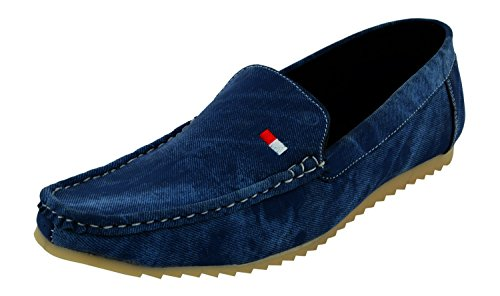Ethics Men's Perfect Light Blue Premium Casual Loafer Shoes (10)