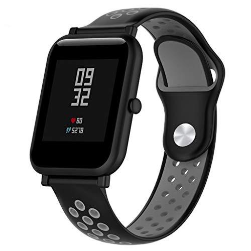 FBGood Zweifarbig Leichtes Ersatzband,Unisex Armband Smart Watch Ersatz Uhrenarmband Schnellspanner Sportarmband Für Amazfit Bip Youth Watch