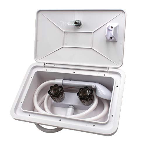 KESOTO Außendusche Handgerät Verschließend Dusche für Camper Wohnmobil Außen Außen Outdoor
