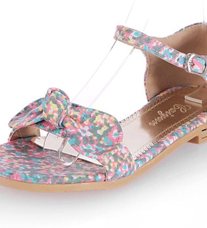 ZQ Zapatos de mujer-Tac¨®n Plano-Punta Abierta-Sandalias-Casual-Tela-Negro / Amarillo / Rosa / Naranja , orange-us10.5...