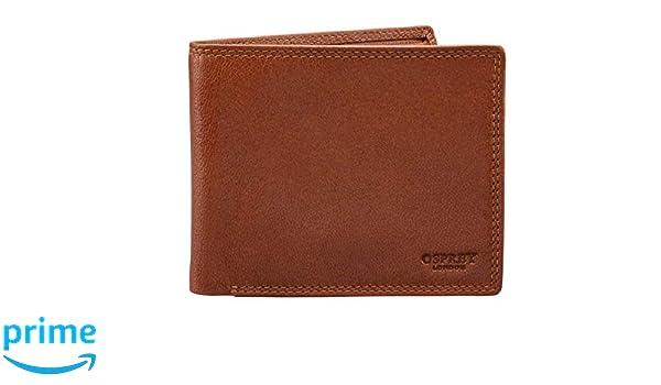 8854b4811daf5 Osprey London Hornbeam Billfold FullGrain Leather Wallet Coin Section  Colour  Tan  Amazon.co.uk  Luggage