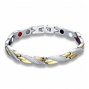 Demana Verdrehtes gesundes magnetisches Armband für Frauen-Power-Therapie-Magneten Armbänder Armreifen für Frauen Männer