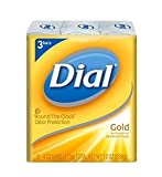 Dial Antibacterial Deodorant Soap, Gold, 4 Ounce, 3 Count