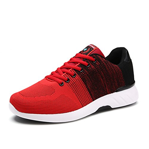Men's Damping Comfortable Athletic Outdoor Walking Shoes red