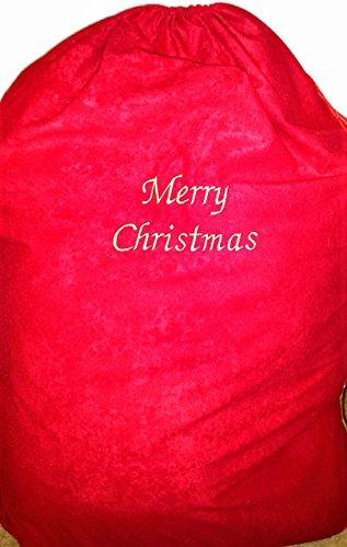 personalisierbar Weihnachten Santa Sack, mit Namen bestickt (Samt-beutel Bestickte)