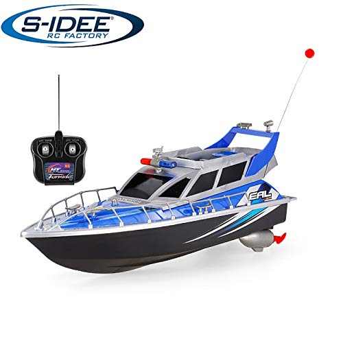 s-idee® 20002 Rc Polizeiboot ferngesteuertes Boot Polizeischiff Rennboot Küstenwache