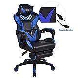ELECWISH Massage Gaming Chair,Reclining Desk Chair Ergonomic Swivel Chair with Massage Lumbar Support