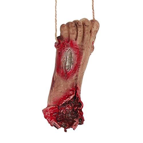 AGYE Halloween Scary Dekorationen,Blutige Körperteile Requisiten-Human Abgetrennter Fuß Hand Finger-Prop Dekoration Haunted House Halloween Dekorationen,D
