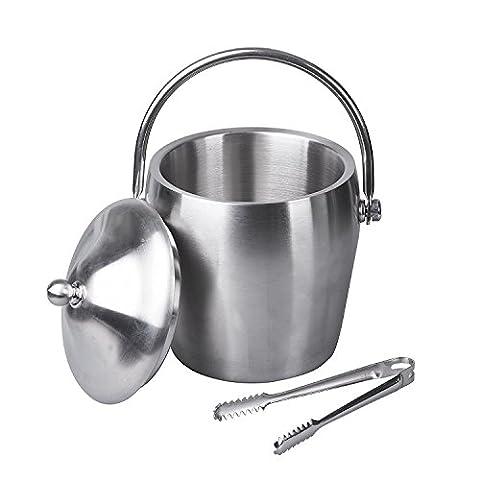 IMEEA® Heavy Duty Double Walls Stainless Steel Ice Bucket with