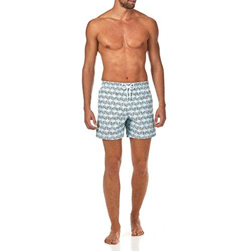 Vilebrequin - Micro Ronde des Tortues-Badeshorts - Jungen Aquamarin Blau