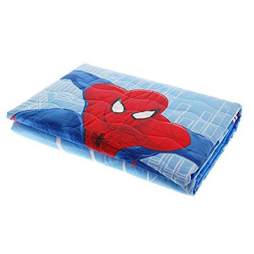 Trapuntino caleffi spiderman city puro cotone 100% primaverile 170x265cm