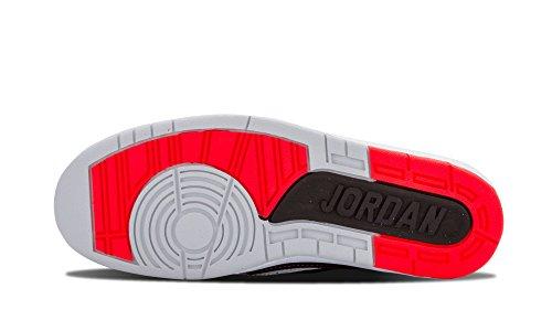 Nike  Air Jordan 2 Retro, Chaussures de sport homme Multicolore - Negro / Rojo / Plateado / Blanco (Black / Infrared 23-Pr Pltnm-Wht)