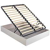 Canapé Abatible Madera láminas Oxfort - Blanco, 150x190cm