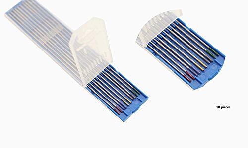SenTECH TIG Soudage mixte 1,6 x 175mm, Électrode en Tungstène, 2 Tungstène Pur + 2 pièces 2% de Cérium + 2 pièces 1,5% de Lanthane + 2 pièces 2% de Lanthane + 2 pièces 2% de Thorium