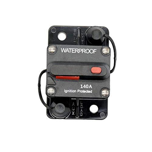 Vosarea 140A wasserdicht Hohe Amp umschaltbar Flush-Mount-Leistungsschalter (schwarz) -