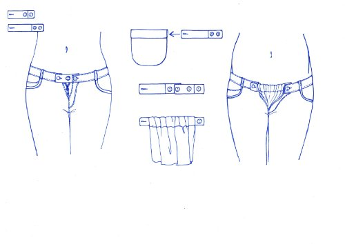 Be! Mama Hosenerweiterung, 3-teiliges Set - 4-stufig verstellbar (Erweiterung von ca. 2 bis 18 cm möglich) - FARBAUSWAHL schwarz