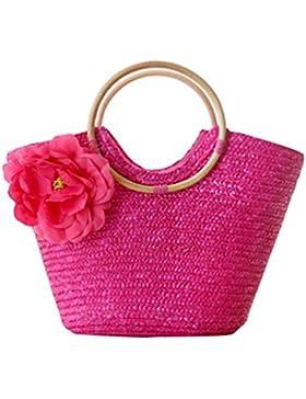 YOUJIA Stroh Taschen Blumen Casual Handtaschen Damen Tragetaschen Für Sommer / Strand