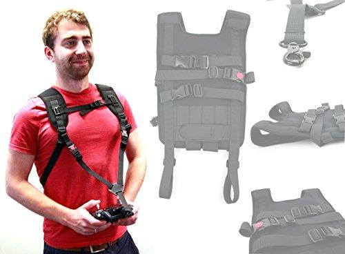 Robuster und widerstandsfähiger Rucksack (schwarz) der Marke DuraGadget für DJI Phantom 3 4K / DJI Phantom 3 Advanced / DJI Phantom 3 Professional und DJI Phantom 4 - 6
