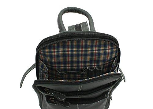 Florentino , Damen Rucksackhandtasche, braun (Braun) - 4037 schwarz