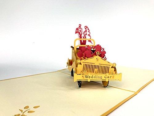 Hochzeit Auto 3D Pop up Grußkarten Jahrestag Baby Geburtstag Ostern Halloween Mother 's Father 's Day New Home NEW YEAR Thanksgiving Valent