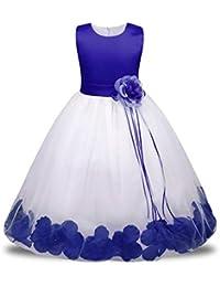 Prevently - Vestido de Boda diseño de Flor de Princesa sin Mangas para Dama de Honor