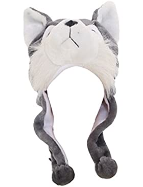 MIOIM Mujeres Niñas Niños Cute Animal Historieta Cálido Sombrero Juguete de Peluche Regalo De Halloween Navidad