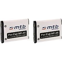 2x Battery NP-45 for FujiFilm FinePix XP50, XP60, Z10fd, Z20fd, Z30, Z31, Z33WP.... (compare list)
