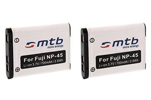 2x Akku NP-45 für FujiFilm FinePix XP50, XP60, Z10fd, Z20fd, Z30, Z31, Z33WP.... (siehe Liste) (Finepix Xp20)