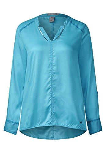 CECIL Damen Individuelle Tunika Bluse blue topaz (blau)