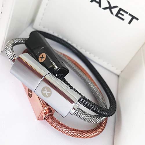 BAXET usefulness accessories Pulsera Recarga | Cable de navegación | Cable de Datos | Cable USB portátil para iPhone, Micro, TypeC | Idea de Regalo tecnológico (22cm TypeC)