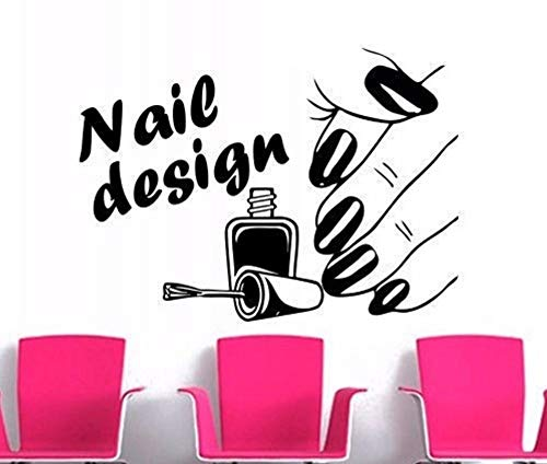 Lvabc 56X75 Cm Nail Design Beauty Salon Serie Wandaufkleber Frau Hand Mit Nagel Muster Kunst Wandbilder Decor Wandaufkleber Für Gilr Kunstwandgemälde