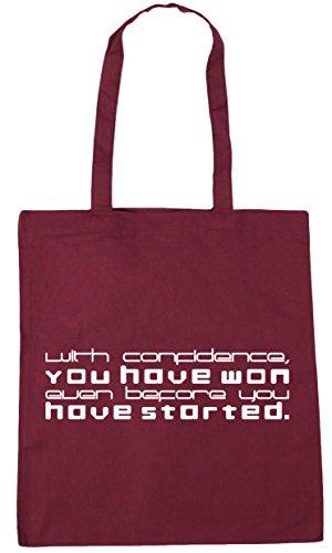 Hippowarehouse ,  Damen Strandtasche burgunderfarben