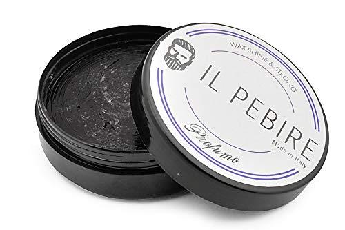 IL PEBIRE Pomade für extra starken Halt. Einzigartiger Duft. Eleganter Glanz - für professionelles Haar-Styling. Haarwachs glänzend für Männer - für jede Haarlänge. Bestes Haarwachs made in Italy