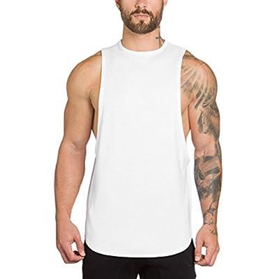 Dooxi Herren Ärmellos Ausbildung Fitness Weste Rundhals Atmungsaktive Muscle Gym T-Shirts Bodybuilding Tops