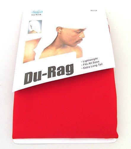 Dream Deluxe Spandex Du-Rag - Red, Lightweight, long tail, extra long, turban, cap, bandana by Dream