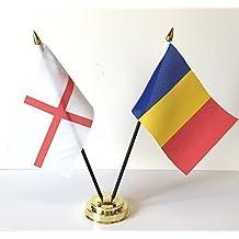 England & Chad-Bandiera dell'amicizia da tavolo, Set di Base