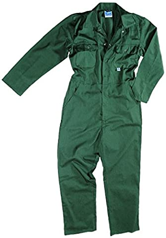 Blue Castle 344/GN-42 42-Inch Stud Front Boilersuit Coverall - Green