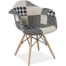 Amazonfr Chaise Patchwork Noir - Fauteuil patchwork noir et blanc