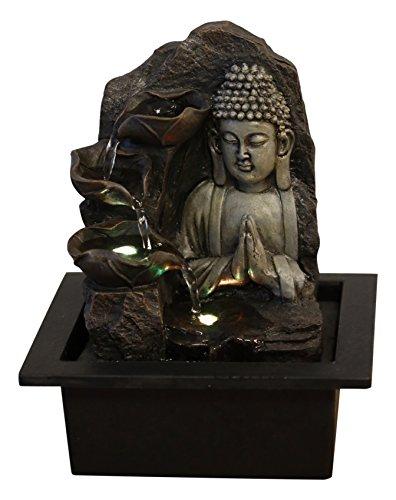Zen'Light SPIRITUALITE Fontaine Polyrésine Marron Foncé 21 x 21 x 26 cm