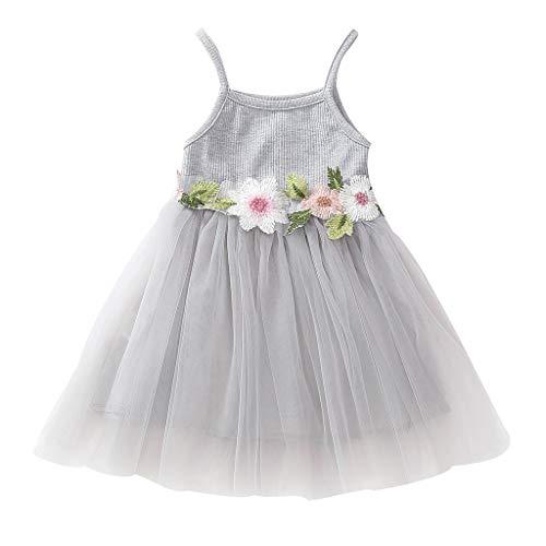 Kind Mädchen Armlos gestrickt Bow Newborn Tutu Prinzessin Kleid ()