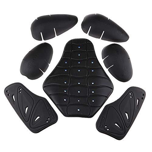 Sharplace-Armatura-Protezione-Pad-Petto-Spalle-E-Ginocchia-Schiena-Rimovibile-Motociclo