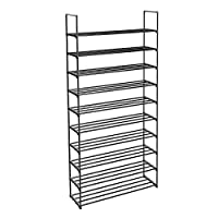 SONGMICS 10-Tier Shoe Rack, Metal Storage Shelves Hold up to 50 Pairs of Shoes