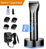 Kebor Hair Clippers Set for Men, Electric Cordless LED Display Titanium Ceramic Blade Haircut Kit with Charging Stand and Oil, Rechargeable Lithium-ion Battery Beard Trimmer Wireless PC1010