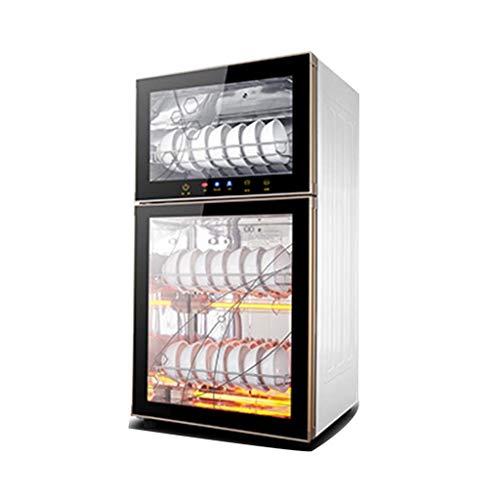 Sterilisationsschränke Desinfektionsschrank Home Vertikale Desktop Doppeltür Kommerziellen Mini Small Cup Büro Desinfektionsschrank (Color : Black, Size : 43 * 36 * 70.5cm)