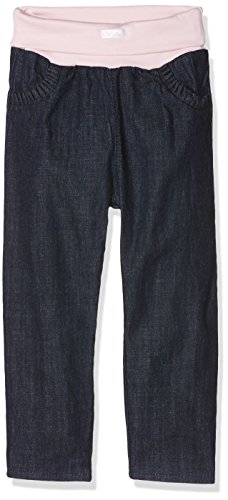 Sanetta Baby-Mädchen Jeans Lined, Blau (Dark Blue 9482.0) 92