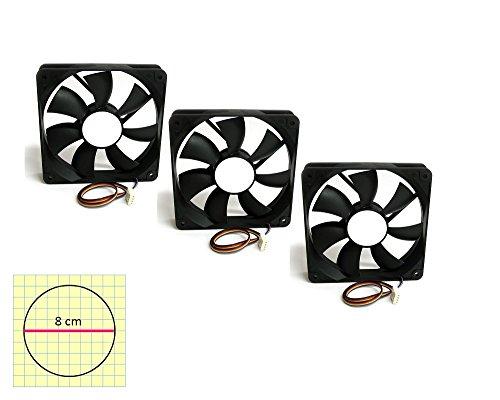 Pack 3Lüfter-Kühlung Case 80x 80PC Fun Case 8cm 94940. pricex